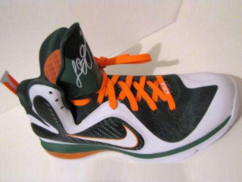 Upcoming Nike LeBron 9 8220Miami Hurricanes8221 Home Edition