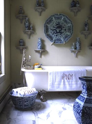 I used her beautiful towels in the chinoiserie story I did for the magazine. (Martha Stewart Living)