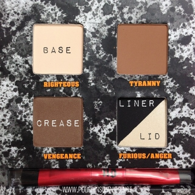 Urban Decay Pulp Fiction Palette - Shades Used
