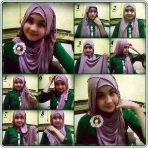 Cara Memakai Jilbab Untuk Sekolah Cantik dan Cute | Cara Memakai ...