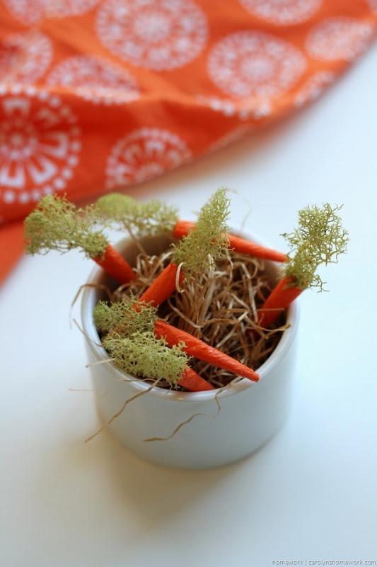 Miniature Crepe Paper Carrots - homework (7)