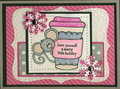 Grey and Pink Holiday Mouse