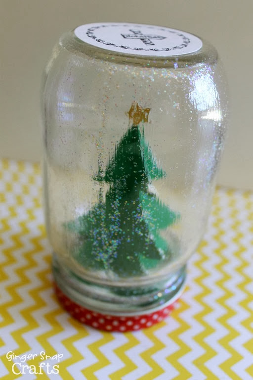 Snow Globe Tutorial at GingerSnapCrafts.com #ad