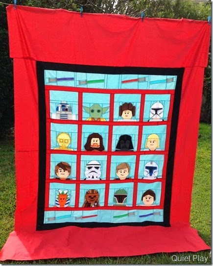 LEGO Star Wars quilt continues