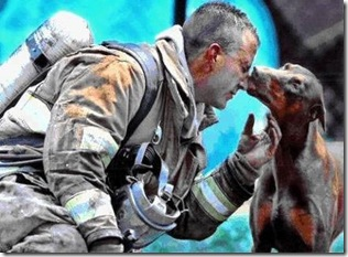FIREMAN AND DOBERMAN-HAS STORY