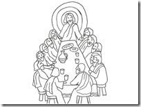 ultima cena jesus colorear (9)