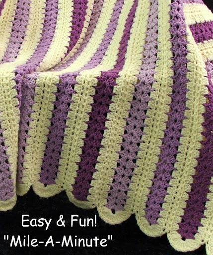Crochet Stitches Mile A Minute : Mile A Minute Crochet Afghan Patterns Learn to Crochet