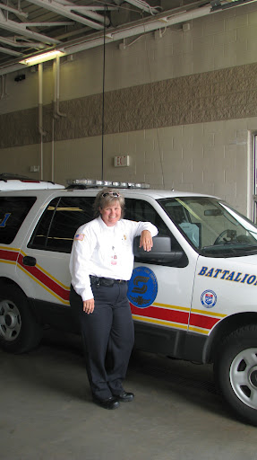 Julie Williams, Battalion Chief, of the Fire Department. One of many located here in Springfield Missouri. (Photo by: Brittni Bynum)