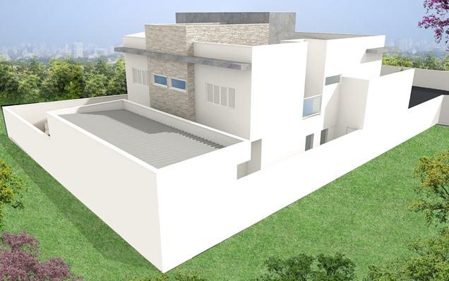 Projeto residencial -Fachada posterior