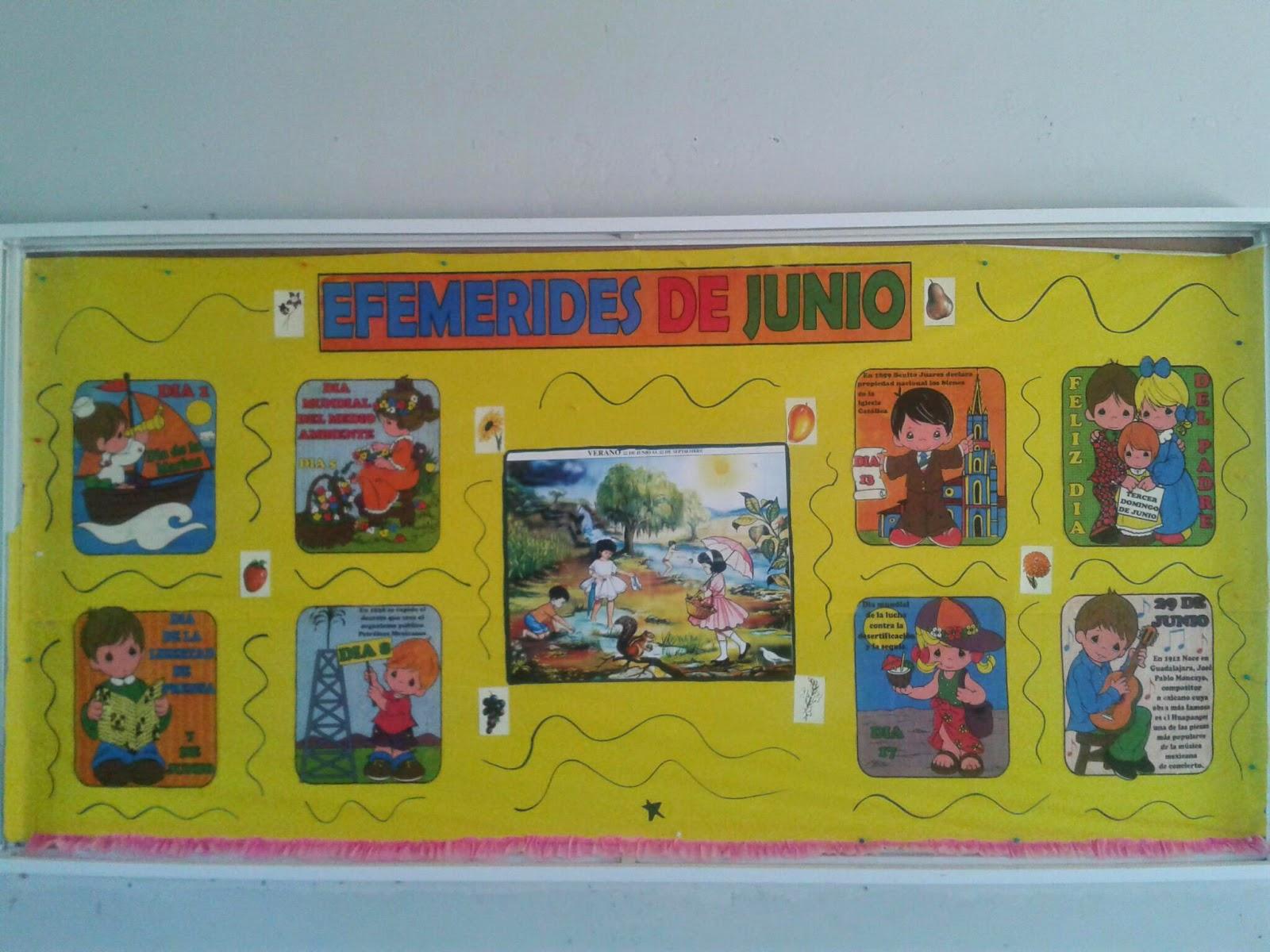 Escuela Primaria Nicolás Bravo Nuestro Periódico Mural De Junio
