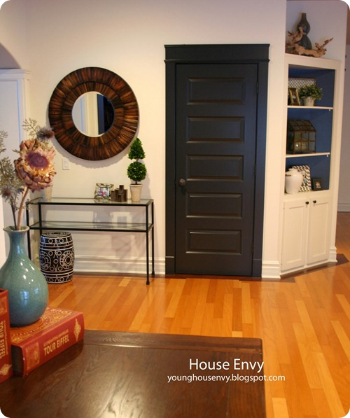 interior black door and trim