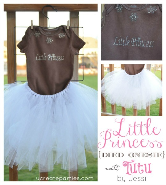 Little Princess Tutu Onesie ucreateparties.com