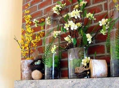 Spring Fireplace Decor | Ideas in Bloom