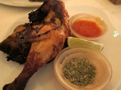 Twice-cooked baby chicken, lemon myrtle salt, chilli sauce