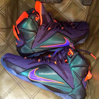 nike lebron 12 xx purple orange 1 01 New LeBron 12 Colorway Perfect for King James Fans in Phoenix