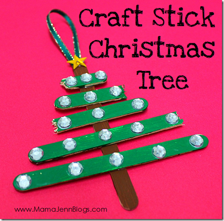 ... popsicle sticks), paint, ribbon, glue, and decorations. We used some