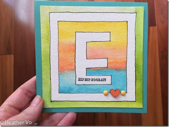 Initial Birthday Card by Heather Vo