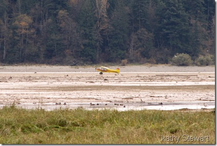 Private Plane on the flats