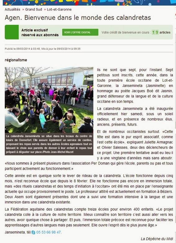 inauguracion Calandreta Agen dins la DDM