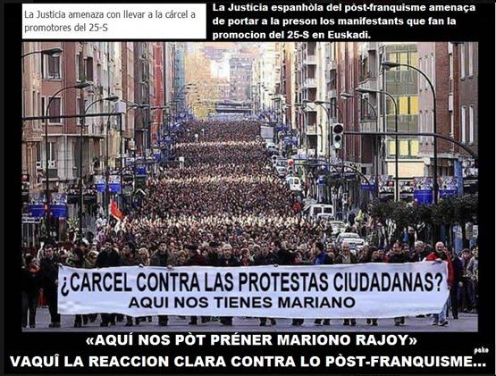 manifestacion per la democracia en Euskadi