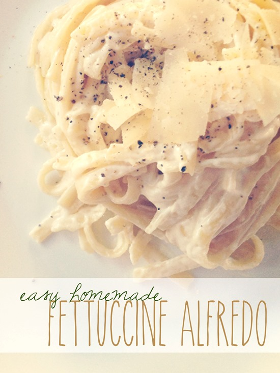 Easy Fettuccine Alfredo with Real Cream