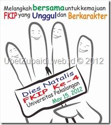 Stiker Dies Natalis FKIP Unikal ke-4 Ubet 2