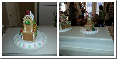 Gingerbread Sarahs house Collage