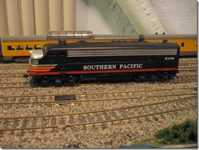 IMG_0492 Southern Pacific FP7 #6458 on My Layout on April 6, 2008