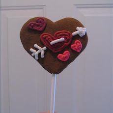 Gingerbread Lollipop Cookies