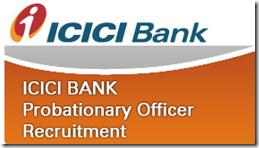 icici bank po Recruitment 2017