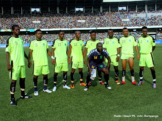L'équipe de l'AS V-Club ce 17/05/2011 au Stade des Martyrs à Kinshasa, lors du match contre DCMP, dont le score final: Vita 1- DCMP 0. Radio Okapi/ Ph. John Bompengo