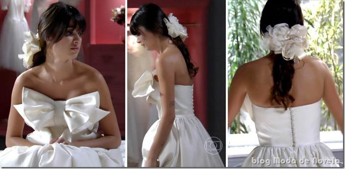 moda da novela sangue bom - vestido de noiva camilinha lancaster capítulo 02 de julho de 2013