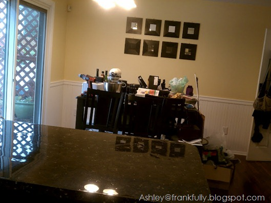 Ashley's messy dining room - work is in progress!