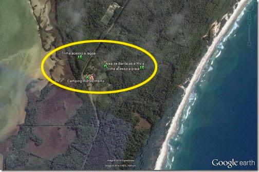 Vista aérea Camping Rio Vermelho
