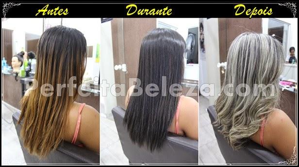 antes e depois cabelos platinados