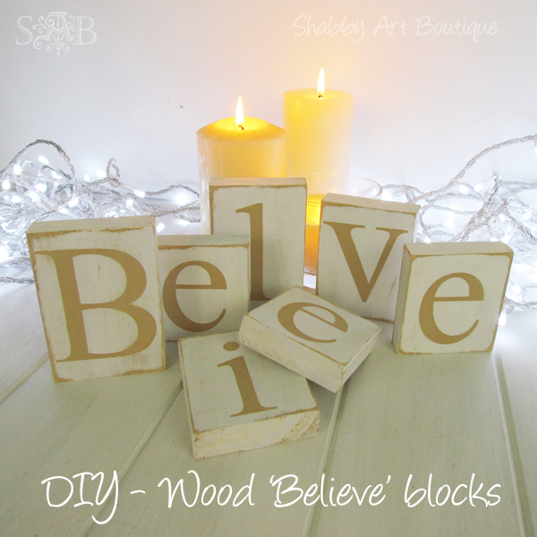 Shabby Art Boutique Believe letters 2