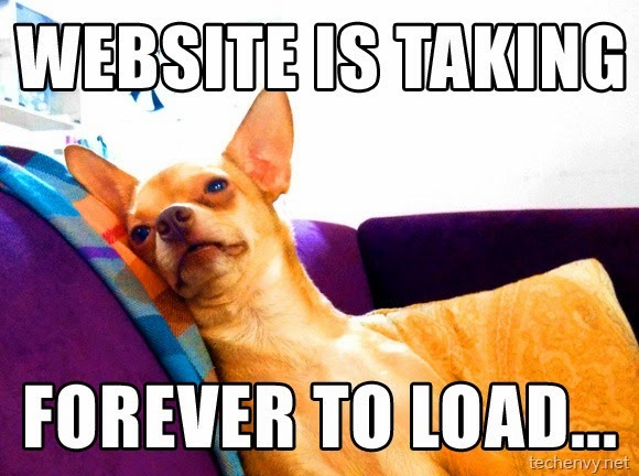 website loads forever