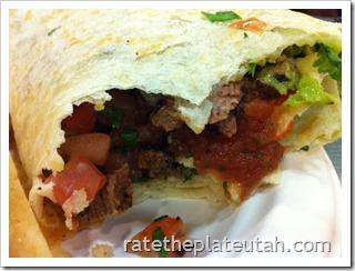 Rubio's Steak Baja Grill Burrito Bite