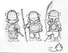 Diseños para los Samukokes del Clan del Fuego