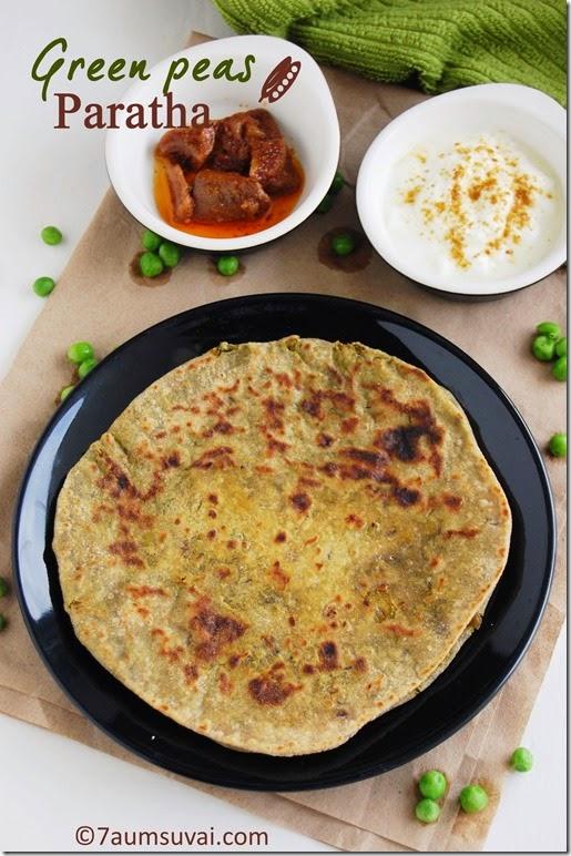 Green peas paratha pic 4