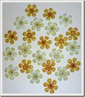 metal flower embellishments