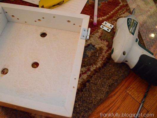 pre-drilled the holes for the hinges