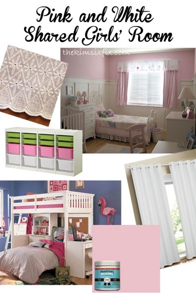 Pink Girls Room Mood Board