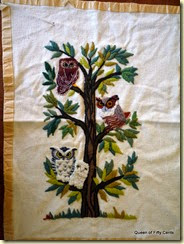 Erica Wilson Owls in Tree