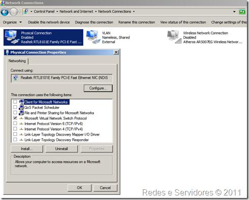 Configuração de Rede do Laptop Modificada
