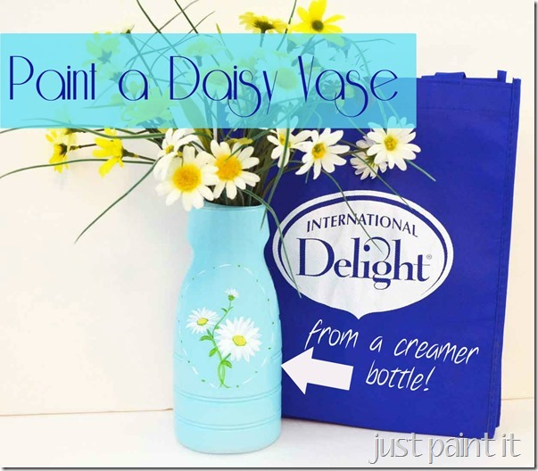 Paint a Daisy Vase with International Delight!