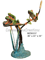 Three Frogs on Lotus (Special Patina)