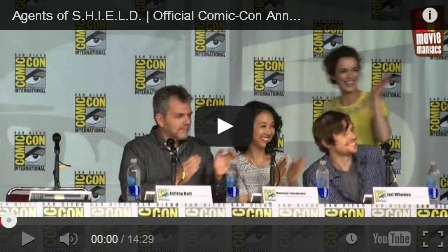 agents of shield full comic con panel, sdcc 2013