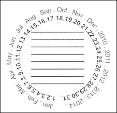 date stamp 2011-2014 single