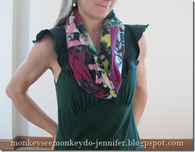 Single Loop Infinity Scarf Tutorial #infinityscarftutorial